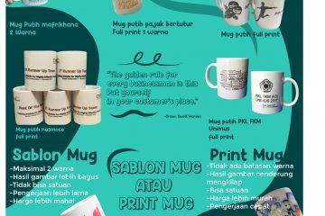 perbedaan cetak mug dan sablon mug